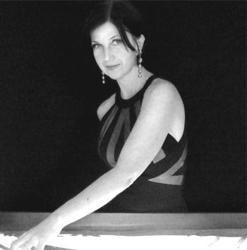 Natalia Moro am Sandtisch